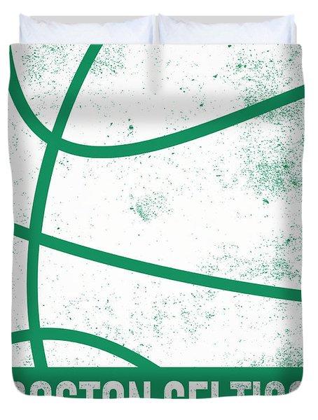 Boston Celtics City Poster Art 2 Duvet Cover