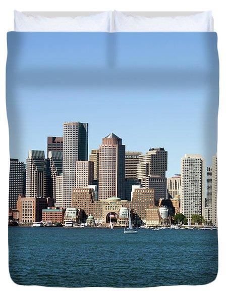 Boston City Skyline Duvet Cover