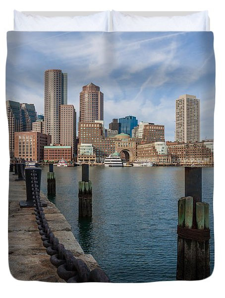 Boston Cityscape From The Seaport District 3 Duvet Cover