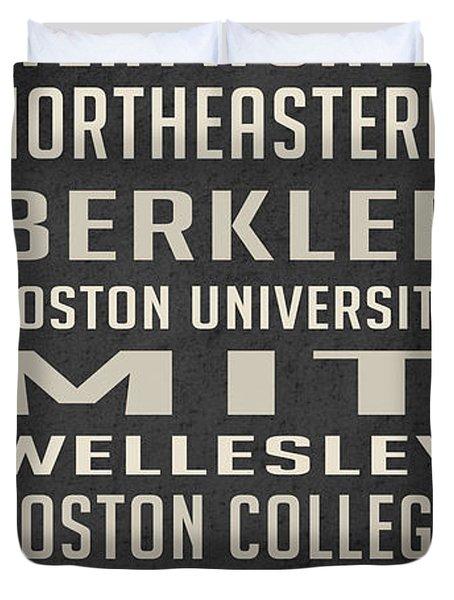 Boston Colleges Poster Duvet Cover