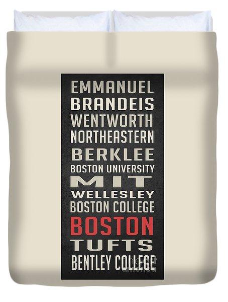 Boston Collegetown Duvet Cover by Edward Fielding