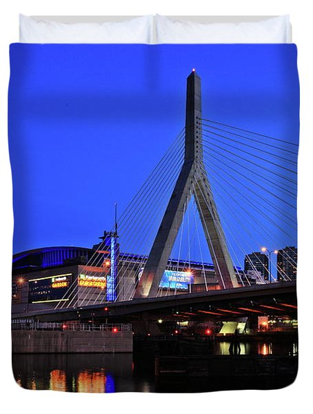 Boston Garden And Zakim Bridge Duvet Cover