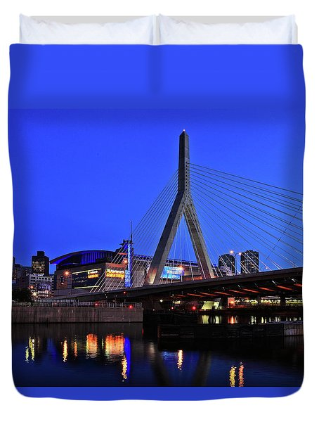 Boston Garden And Zakim Bridge Duvet Cover by Rick Berk