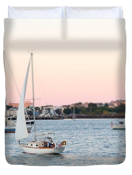 Boston Harbor View Duvet Cover