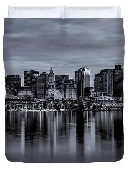 Boston In Monochrome Duvet Cover