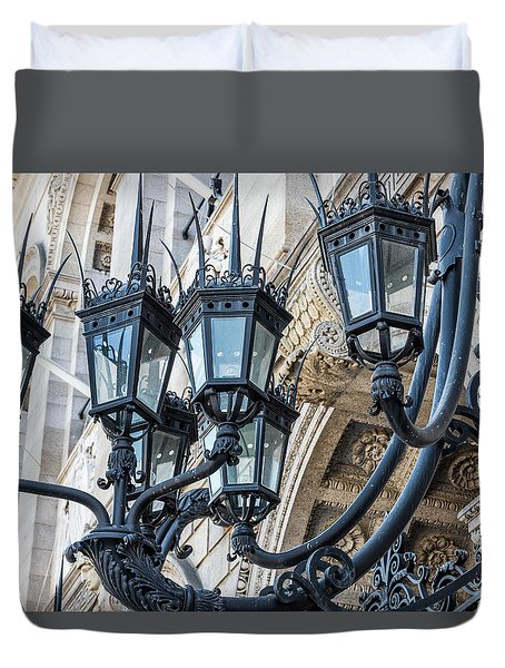 Boston Lamps Duvet Cover