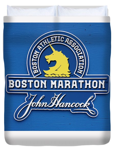 Duvet Cover featuring the photograph Boston Marathon - Boston Athletic Association by Joann Vitali