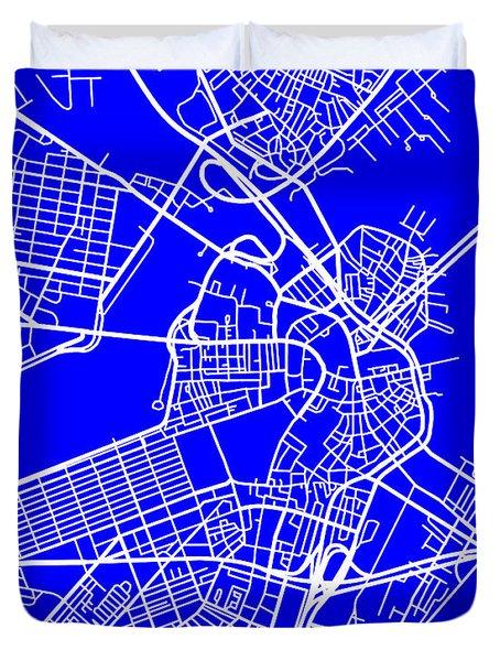 Boston Massachusetts City Map Streets Art Print   Duvet Cover