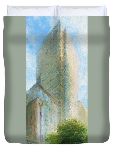 Boston Private Bank At Post Office Square Duvet Cover