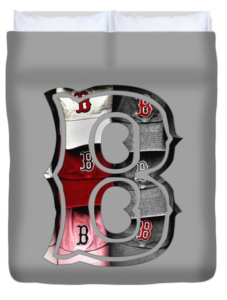 Boston Red Sox B Logo Duvet Cover