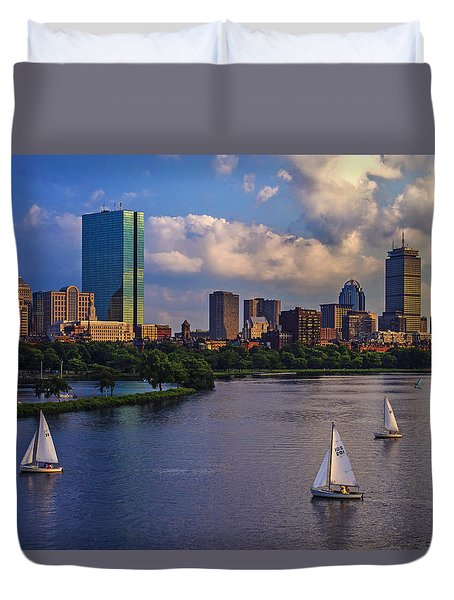 Boston Skyline Duvet Cover