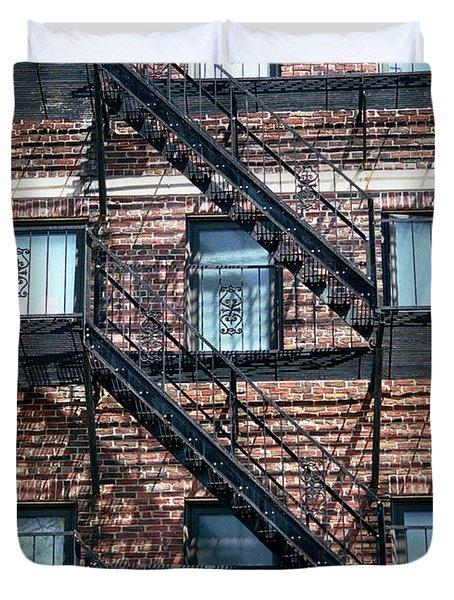 Boston Stairs Duvet Cover