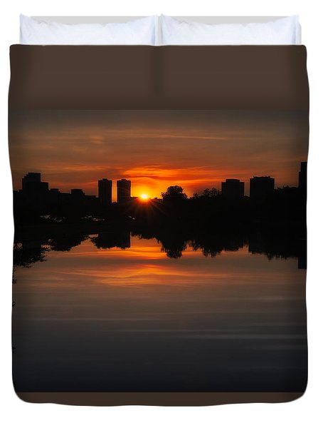 Boston Sunrise Duvet Cover