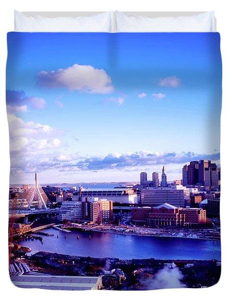 Boston Sunset Duvet Cover by L O C