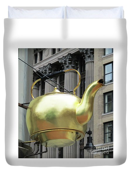 Boston Tea Pot Duvet Cover