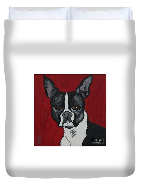Boston Terrier Duvet Cover