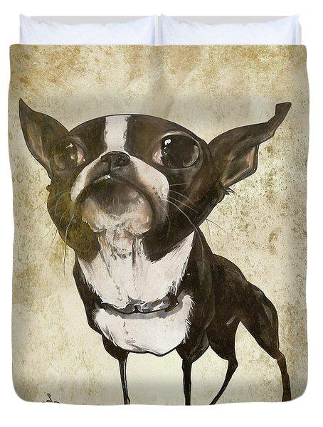 Boston Terrier - Antique Duvet Cover