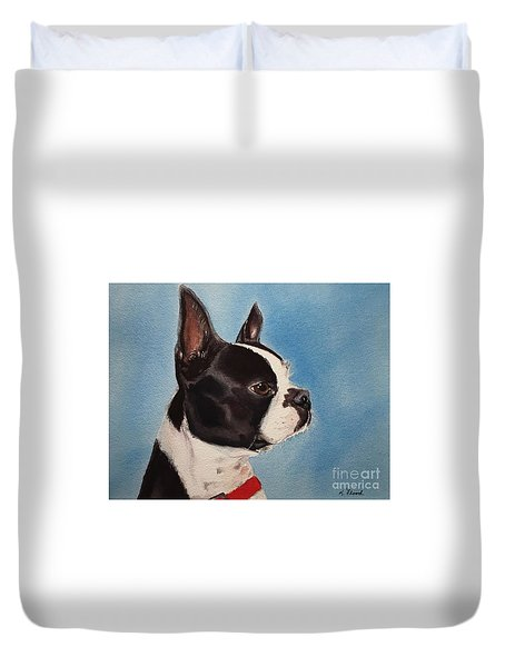 Boston Terrier Duvet Cover