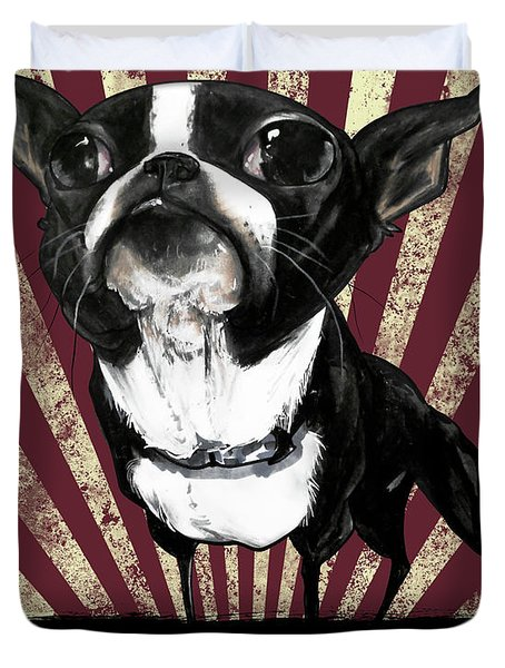 Boston Terrier Revolution Duvet Cover