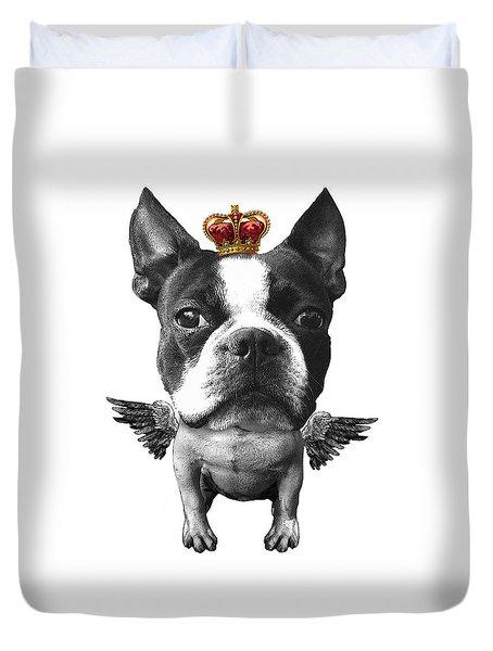 Boston Terrier, The King Duvet Cover