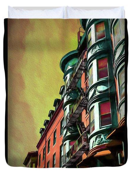 Boston's Famous North Square Duvet Cover