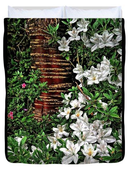 Botanic Garden Flowers Duvet Cover