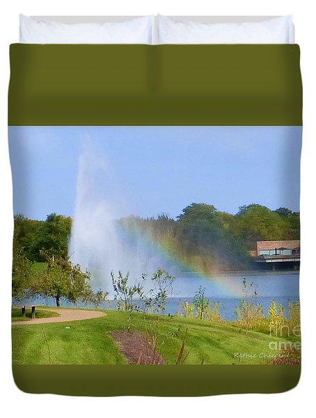 Botanic Rainbow Duvet Cover by Kathie Chicoine