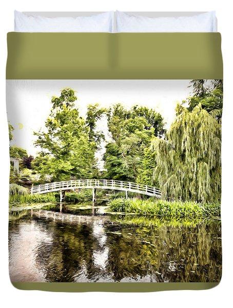 Botanical Bridge - Monet Duvet Cover