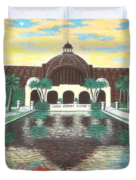 Botanical Building In Balboa Park 01 Duvet Cover