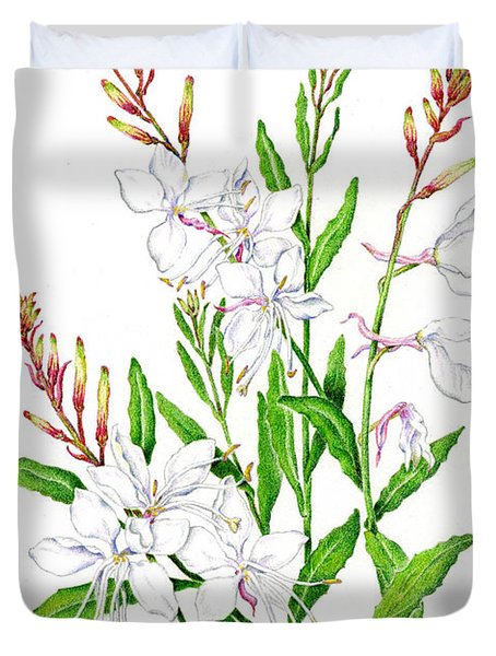 Botanical Illustration Floral Painting Duvet Cover