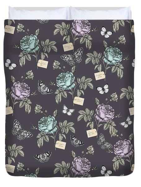 Botanical Roses Duvet Cover by Stephanie Davies