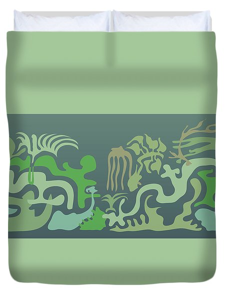 Botaniscribble Duvet Cover