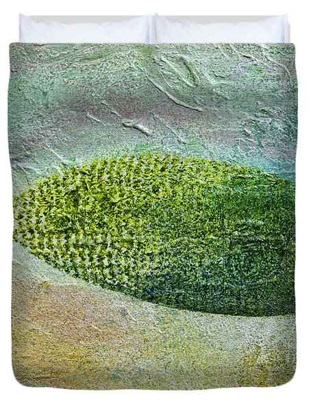 Duvet Cover featuring the painting Botany II by John Hansen