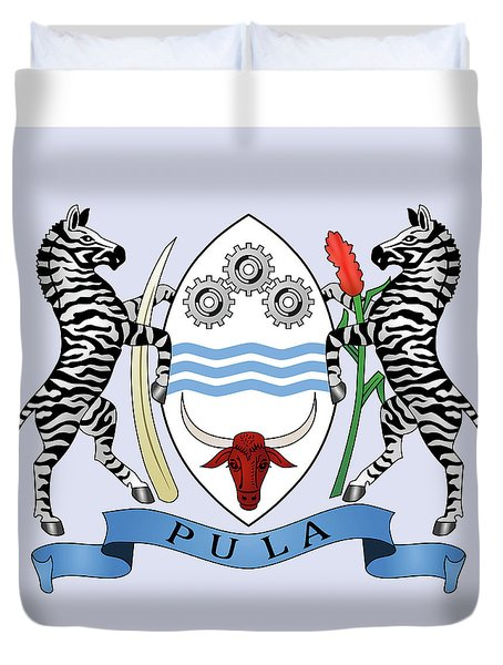 Botswana Coat Of Arms Duvet Cover by Movie Poster Prints