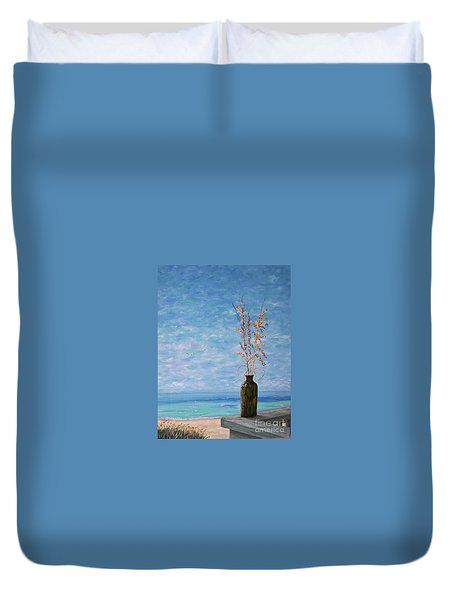Bottle And Sea Oats Duvet Cover