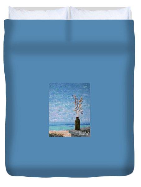 Bottle And Sea Oats Duvet Cover