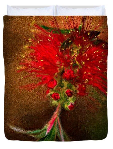 Bottle Brush Flower Duvet Cover