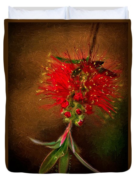 Bottle Brush Flower Duvet Cover