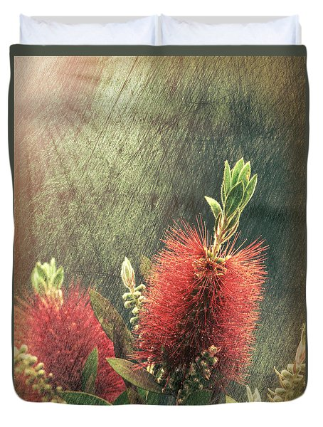 Bottle Brush Plant Duvet Cover