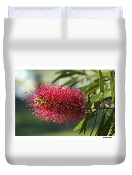 Duvet Cover featuring the photograph Bottle Brush by R Thomas Berner