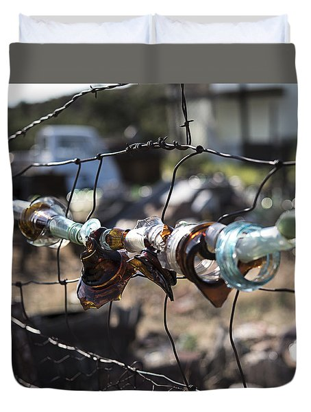 Bottle Fence Duvet Cover
