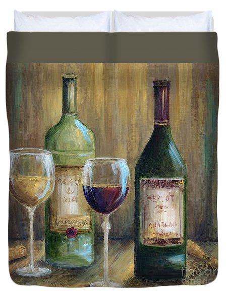 Bottle Of Red Bottle Of White   Duvet Cover