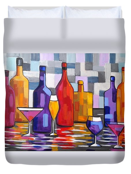 Bottle Of Wine Duvet Cover