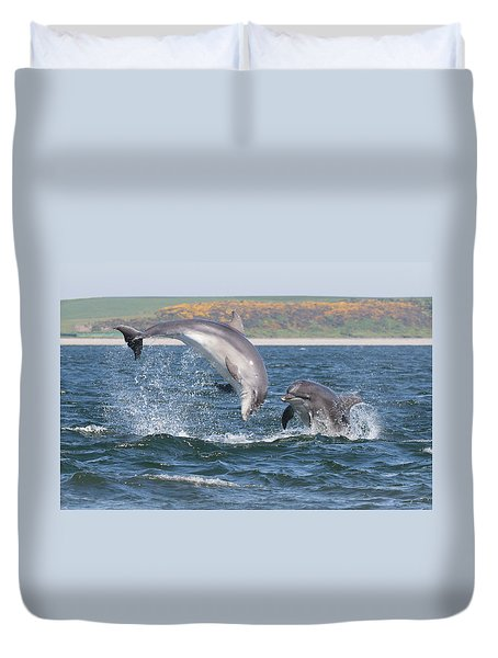 Bottlenose Dolphin - Moray Firth Scotland #49 Duvet Cover