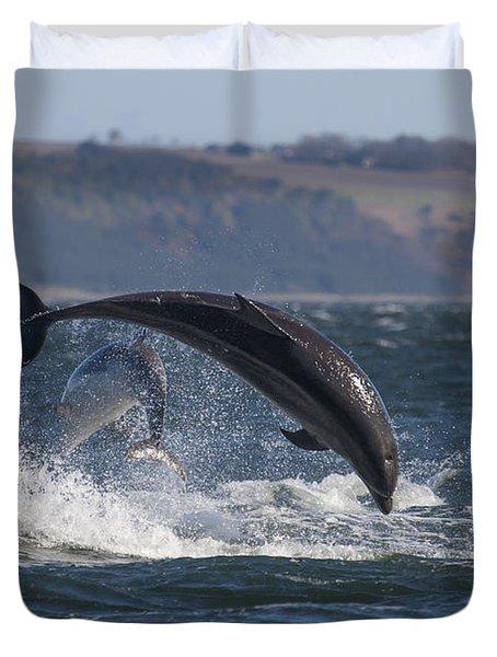 Bottlenose Dolphins - Scotland  #25 Duvet Cover