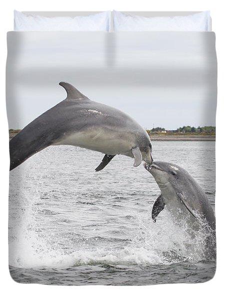 Bottlenose Dolphins - Scotland #1 Duvet Cover