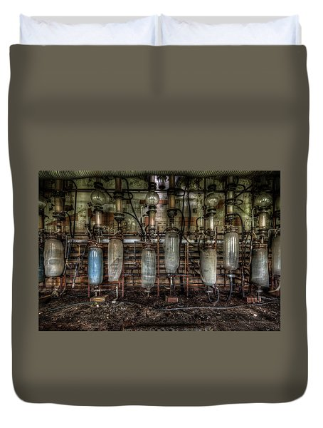 Bottles Hanging On The Wall  Duvet Cover by Nathan Wright
