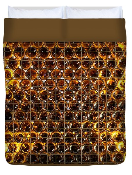 Bottles Of Beer On The Wall Duvet Cover