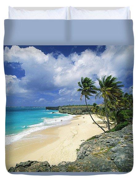 Bottom Bay, Barbados Duvet Cover