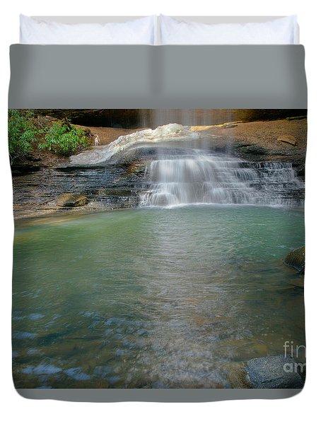Bottom Of Falls Duvet Cover
